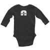 Gray Rabbit Skins 4411 Infant Long Sleeve Baby Rib Bodysuit (Heather / 6M)