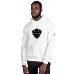 Large Astonix Unisex Heavy Blend Hoodie 18500 (White)