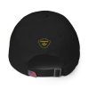 Black Astonix Bay-side 3630 - Unstructured 6 Panel Cap w/American Flag