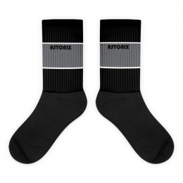 Unisex Black and Gray Astonix Socks