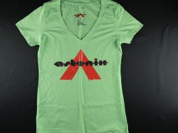 Mint Green V-neck Astonix T-Shirt Women