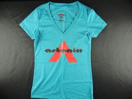 Turquoise Astonix V-neck T-shirt for Women