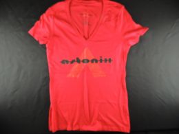 Raspberry Red Astonix V-neck t-shirt for women