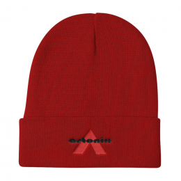 "Astonix Otto Cap 82-480 - Knit Beanie 12"" (Red)"