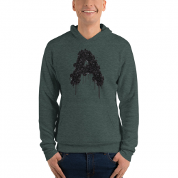 Large Astonix Unisex Pullover Hoodie(Heather Forest)