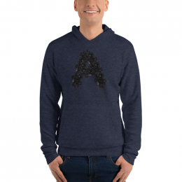 Large Astonix Unisex Pullover Hoodie(Heather Navy)
