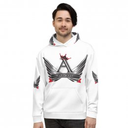 All-Over Print Astonix Unisex Hoodie (White)