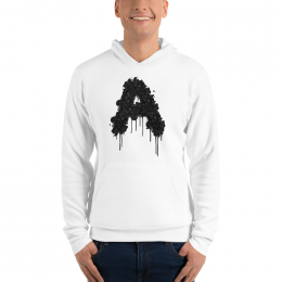 Large Astonix Unisex Pullover Hoodie (White)