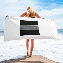 30x60 Black and Gray Flag Astonix Beach Towel