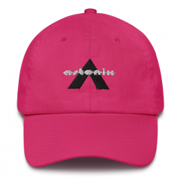 Astonix Cap w/ U.S. flag attached on back (Color: Bright Pink)