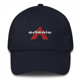 Astonix Cap w/ U.S. flag attached on back (Color: Navy)