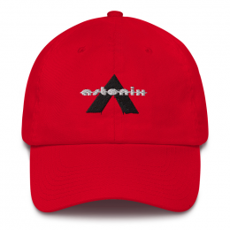 Astonix Cap w/ U.S. flag attached on back (Color: Red)